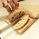 fresh bread for antipasti
