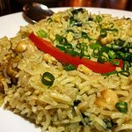 Lebanese Rice- Walnuts, Scallions, Bell Pepper, chickpeas, spinach