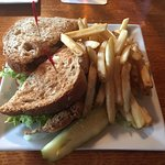 Stuffed (with lump crab meat) soft-shell crab sandwich