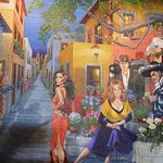 Another of the numerous wall murals in Mi Tierra.
