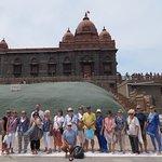 Our group in front of Vivekenanda temple at Kanyakumari