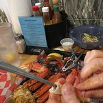 Crab legs . May was a great time to visit no crowds . Food was great service friendly. Went back