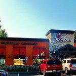 parking lot view of Applebee's