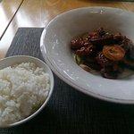 アンコウと野菜のミソ炒め