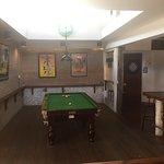 Pool table & dart board