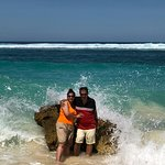 Loved the water splashing on the rocks when huge tides would hit it....