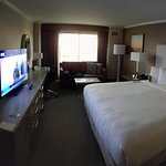 Nice room with a great bed.