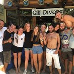 Some of the awesome Gili Divers team