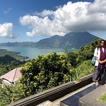 Batur lake in the background....