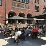 Enjoy the sun on our beautiful terrace, right next to the Bijenkorf.