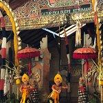 The traditional Barong & Kris dance performance...