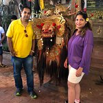 With the traditional Barong lion...