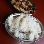 Ema Datshi with steamed rice