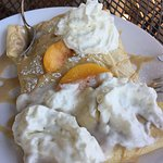 Peach crepes for dessert
