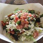 Grilled Vegetable Tostada. Amazing