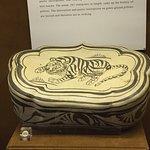Porcelain Pillow with Tiger Design