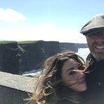 Cliffs of Moher windy selfie