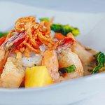 The Mews' Green Thai Shrimp Curry