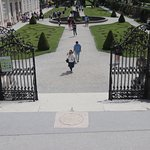 The famous Do Re Mi steps in Mirabel gardens, Salzburg