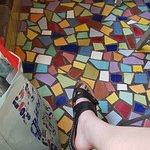 The stunning interior mosaic work!