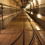 één van de vele ondergrondse gangen