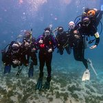 Our dive group from Dive Utah at Snapper's ledge