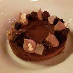 Aro de chocolate en sopa de Cacao. Exquisito, te deja sin palabras
