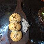 Rosemary bread with portobello mouse