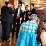 Delightful men's acapella singers in Bokeria restaurant