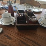 Breakfast table with homemade jam