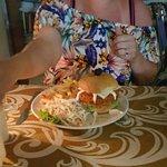 Vindaloo pork burger