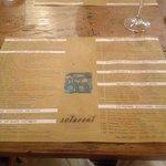 Table place menu
