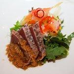 Tuna Sashimi Salad with Matsuhisa Dressing