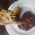 rib eye and truffle fries