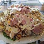 Salade composée, majestueuse, faite aussi par mes soins avec des produits d'une fraicheur sans a