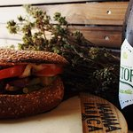 focaccia con grano antico di russello,con la birra Grazie Mille del birrificio vittoria