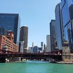 Chicago skyline from the city water taxi (Michigan Avenue)