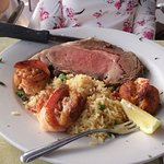 Prime Rib and Stuffed Shrimp