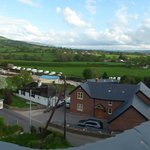 The Vale of Clwyd from the roof terrace of the Dinorben Arms