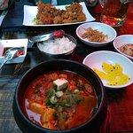 #37 Kimchi sopu with tofu and pork-belly. Spicy (medium)