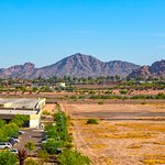 View of Camelback Mountain and Papago park from balcony room