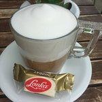 Latte Macchiato with Gluten Free candy