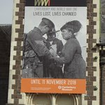 Ad for the World War I exhibit, which is great! They should make it permanent!