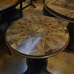 Exquisite inlaid table made in the 1800s in New Zealand.