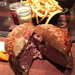 Medium rare - medium burger at NoMad Bar