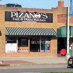 front of & entrance to Pizano's Deli & Pizza Kitchen