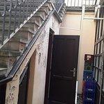 Zona de acceso a las habitaciones...