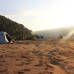 Camping non loin de la cascade d'Anosiampela