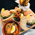 Hot and cold seafood sharing plater