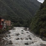 The Urubamba River from our room at Adela's